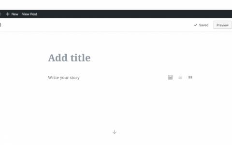 升级前注意备份,WordPress5.0版本前发布Gutenberg(古登堡)编辑器