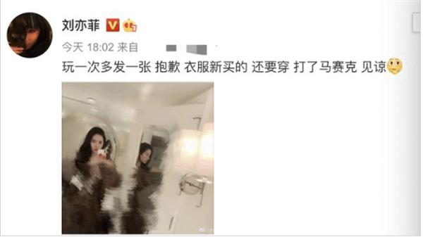 刘亦菲近期照片曝光脸颊圆润 被网友质疑不注重身材管理
